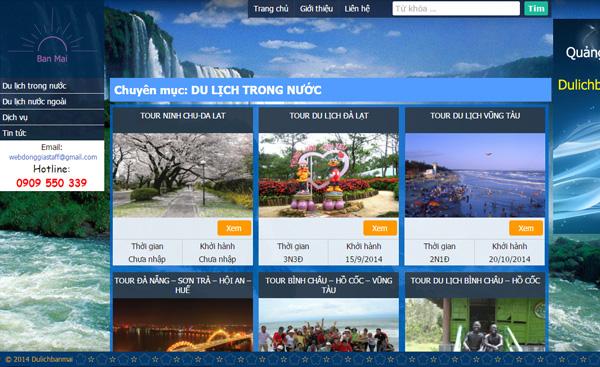 Giao diện ngành du lịch 004