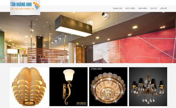 Giao diện ngành quảng trang trí - quảng cáo - webdonggia.com