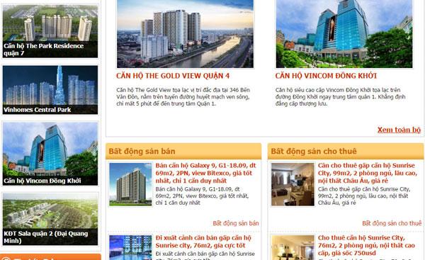 Giao diện tông cam sang trọng phù hợp bán đất nền, căn hộ cao cấp