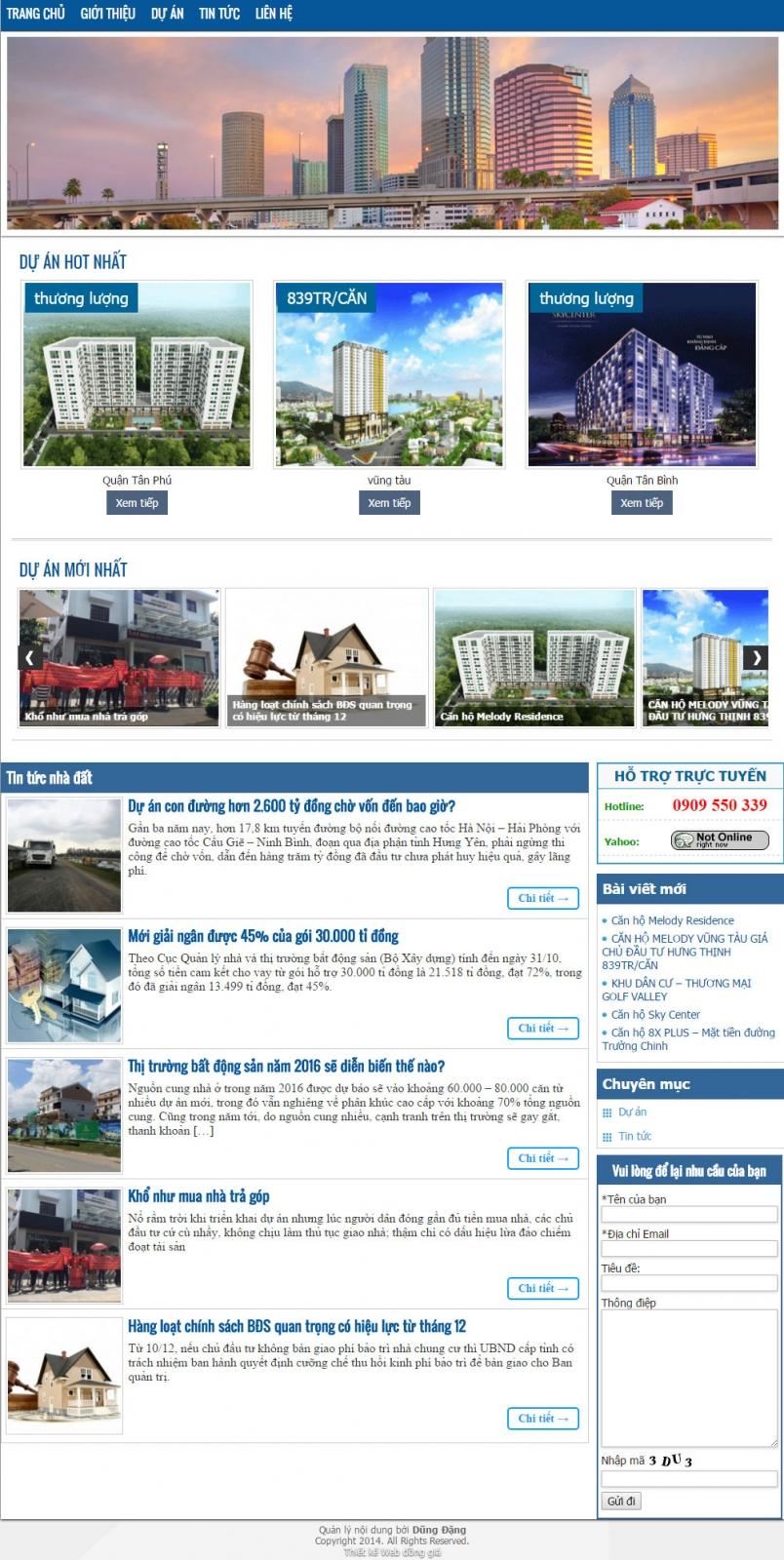 Giao diện bất động sản 008 - webdonggia.com