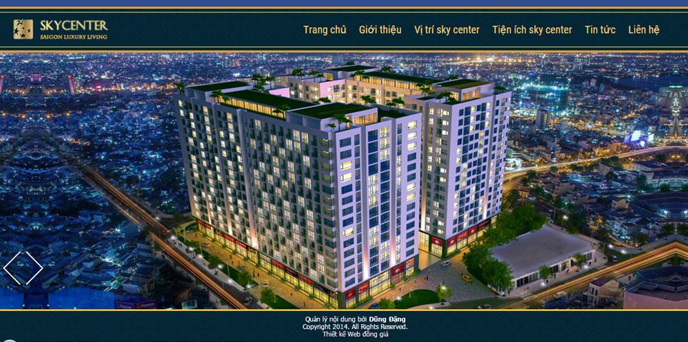 Giao diện bất động sản mô hình dự án con